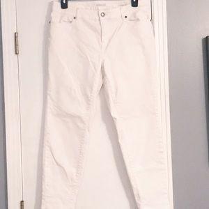 Eloquii by The Limited White Denim Jeans, Sz 14W